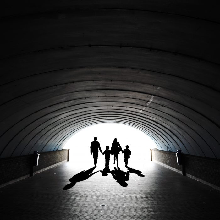 Entrepreneur Aligned Destiny Capital Family in Tunnel